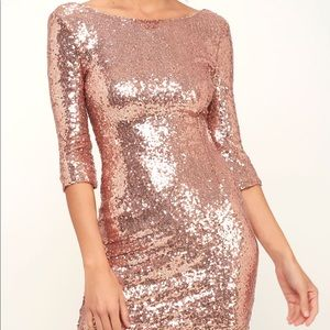 Sequin dress from lulus